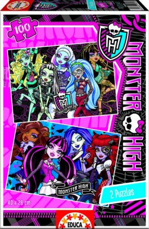 Educa Puzzle - Monster High - 2 x 100 dílků