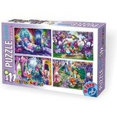 D-Toys Puzzle Collection - Magic Color - Pohádky - 24, 35, 48 a 60 dílků