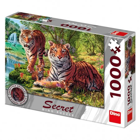 Dino Puzzle secret collection - Tygři - 1000 dílků